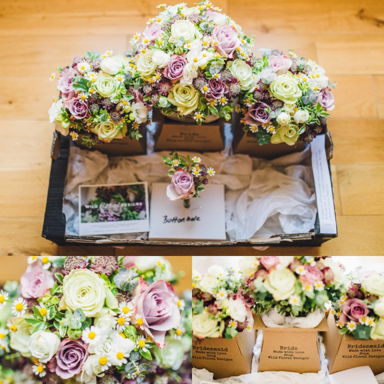 Pastel Vintage Wedding Photography at Redcliffe Hotel, Paignton_wild floral designs bouquets spray Roses, Freesia, Daisy and Eucalyptus