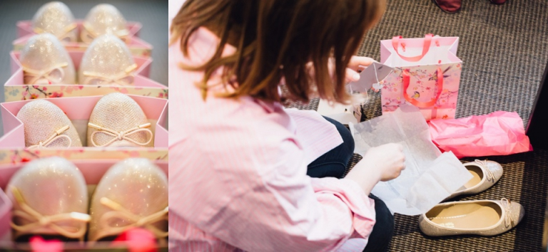 Natural, documentary london wedding photography_bridesmaid opening gift of jewellery and shoes