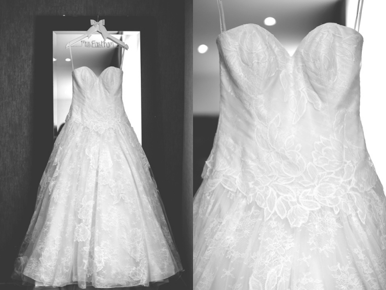 Natural Documentary London Wedding Photography Bromley Brides Dress Black And White Getting Ready Detail Photo