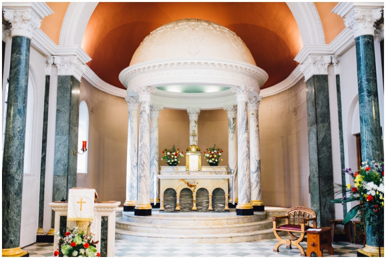 2 Lord Haldon Hotel Exeter Wedding Photography - Blessed Sacrament Church Exeter altar