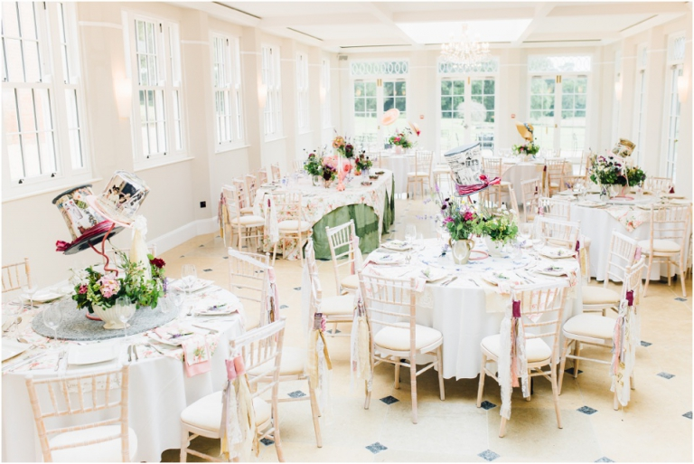 19 Rockbeare Manor Exeter Wedding Photography - wedding breakfast room design