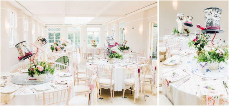 21 Rockbeare Manor Exeter Wedding Photography - orangery table design