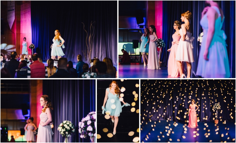 3 Devon Wedding Show - Wedding Fair Torquay Photography - bridesmaids dresses on catwalk