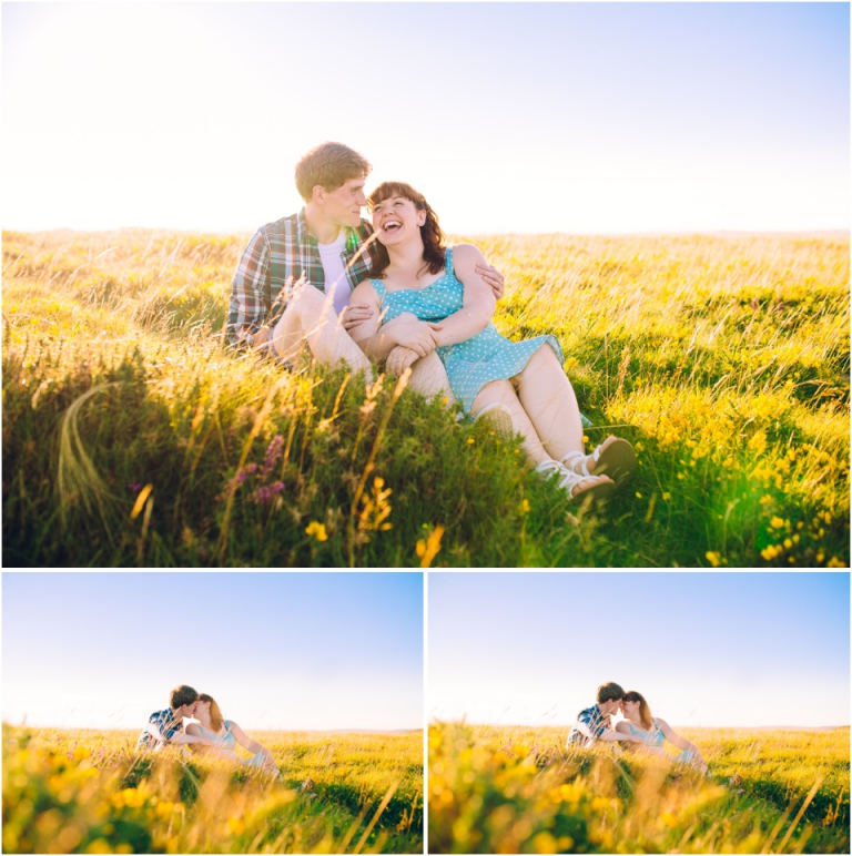 1-pre-wedding-engagement-photography-dartmoor-devon-beautiful-romantic-natural-light-sunset-couple-laughing-in-grass