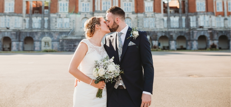 5 Documentary Wedding Photography in Torquay, Exeter, Devon - couple kissing