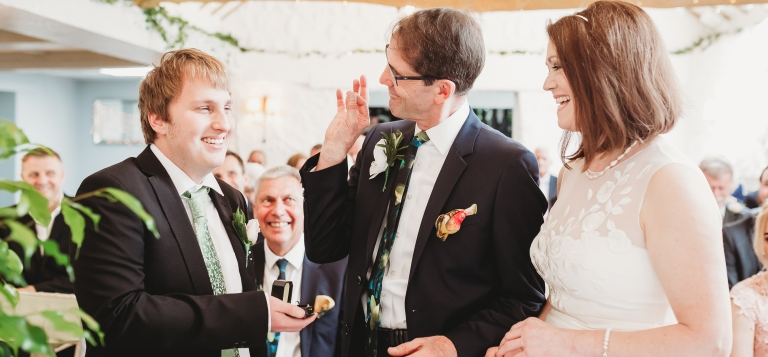 7 Documentary Wedding Photography in Torquay, Exeter, Devon - funny ceremony ring exchange