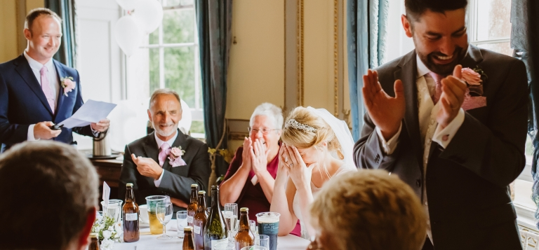 9 Documentary Wedding Photography in Torquay, Exeter, Devon - funny speech reactions