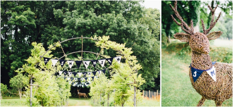 1 Deer Park Country House Hotel, Exeter Wedding Photography - homemade bunting