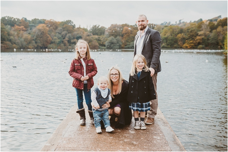 1 Pre Wedding Family Photo Shoot at Decoy Park, Newton Abbot - relaxed family portrait by lake