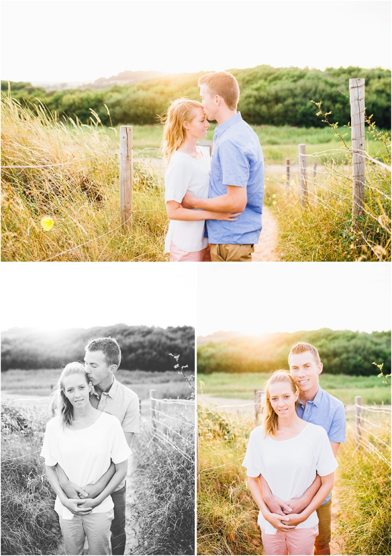 3 Dawlish Warren Engagement Couple Photography in Devon - romantic couple in sunset
