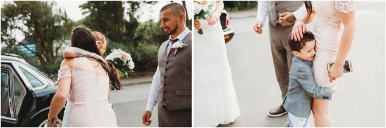 2 Wedding Reception Photography at The Flavel, Dartmouth - hugs