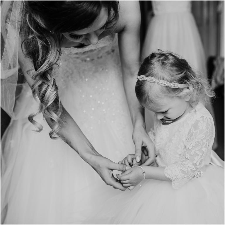 Relaxed, Fun, Natural Toorak Hotel Torquay Wedding Photography 2 - bride putting bracelet on daughter