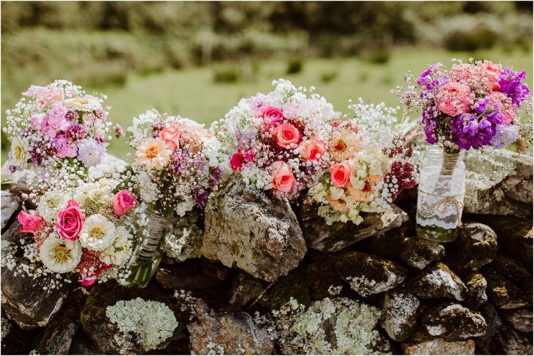 Devon Wedding Photography – DIY Hand Made Wedding at East Soar Salcombe (3) Bouquets