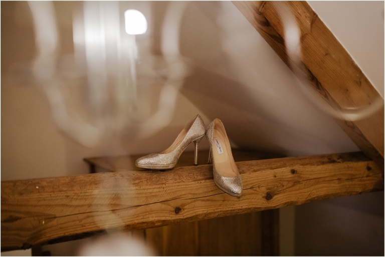 North Devon Wedding Photography at The Milky Way Relaxed Fun DIY Style (2) jimmy choo shoes