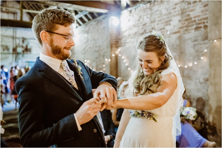 Exeter Torquay Devon Wedding Photography Documentary Highlights of 2019 (86) getting the ring on