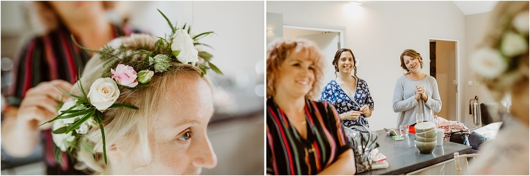 Cornwall Wedding Photography at Trevenna Barns Relaxed Rustic Outdoors Celebration (1) flower crown