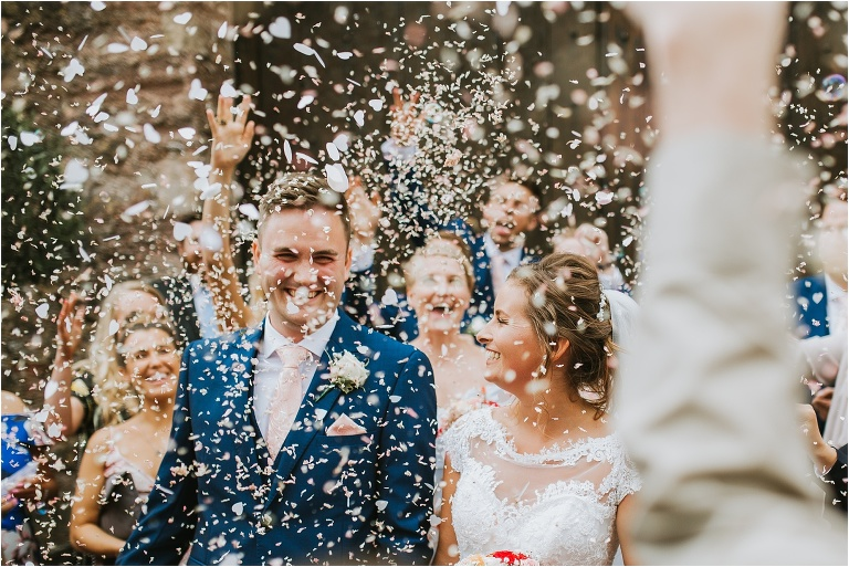 Exeter Devon Wedding Photography – Confetti Tips and Advice (5) Lots of petal and Tissue Paper