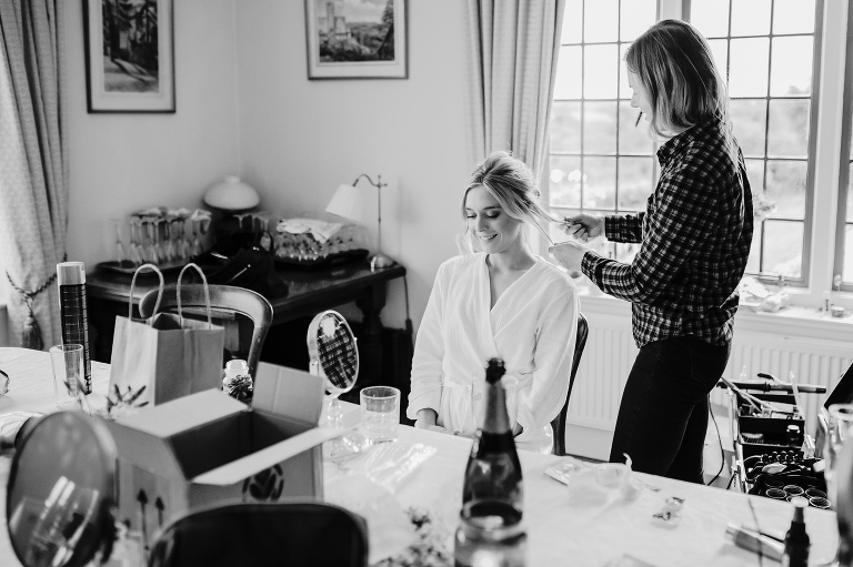 Chagford Church Marquee Wedding Photography Relaxed DIY Ceilidh Dance Celebration 13 Bridal Hair Brigitte Fisher
