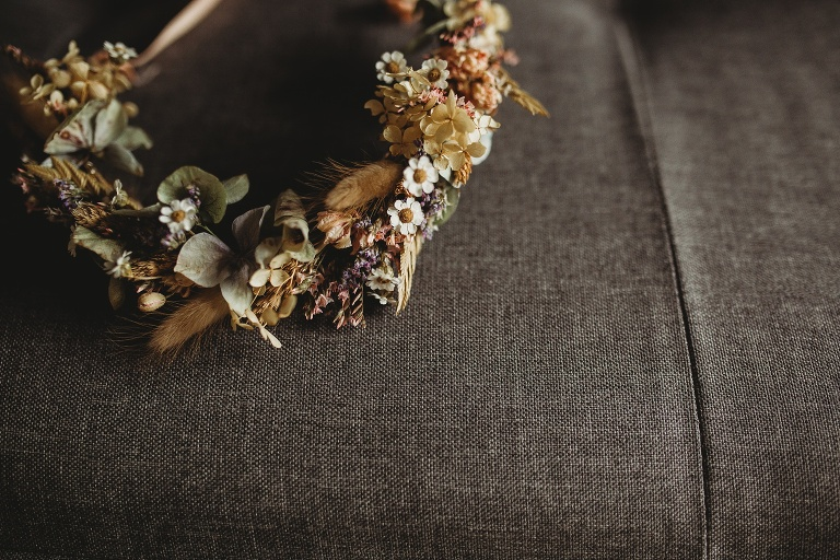Country Ways Wedding Photography Dreamy and Intimate 1 Dried Flower Crown